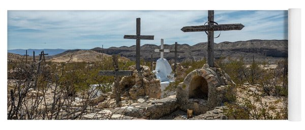Yoga Mat featuring the photograph Terlingua Cemetery by Joe Sparks