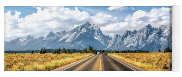 Grand Teton National Park Mountain Approach Yoga Mat