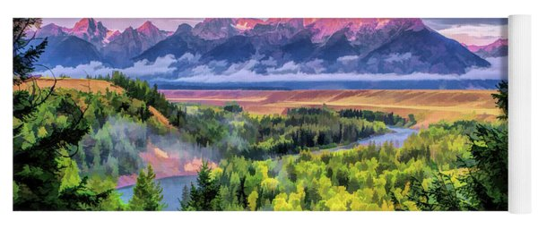 Grand Teton National Park Snake River Yoga Mat