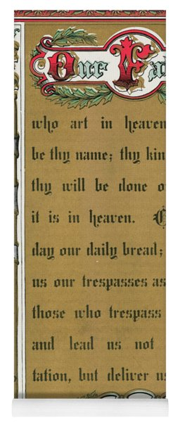 Text Of The Lords Prayer Yoga Mat
