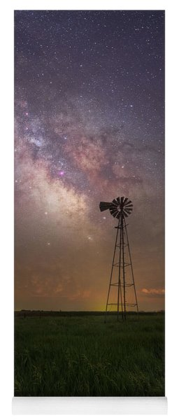Yoga Mat featuring the photograph That's My Kind Of Night  by Aaron J Groen