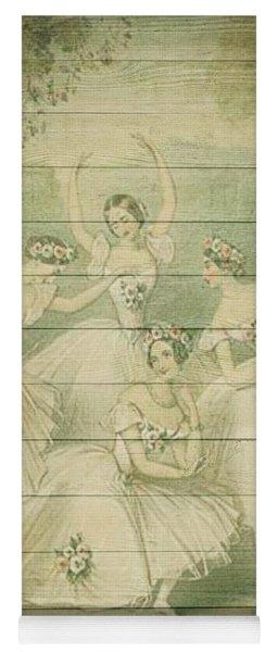 The Ballet Dancers Shabby Chic Vintage Style Portrait Yoga Mat