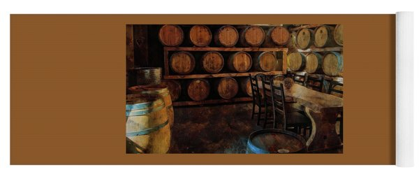 Yoga Mat featuring the photograph The Barrel Room by Thom Zehrfeld