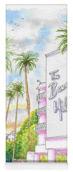 The Beverly Hills Hotel In Sunset Blvd., Beverly Hills, California Yoga Mat