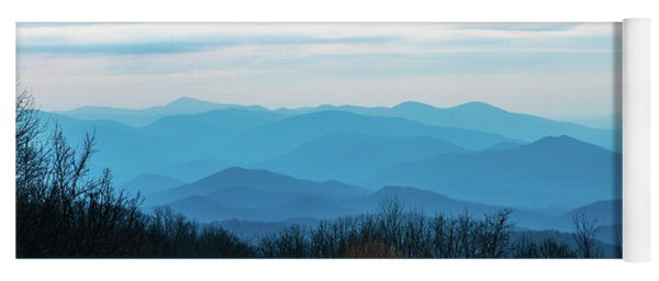 Yoga Mat featuring the photograph The Blue Ridge Mountains by Mark Duehmig