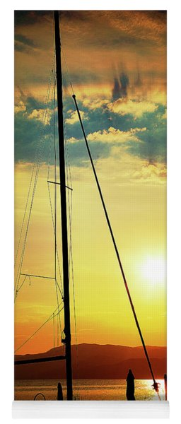 the Boat and the Sky Yoga Mat