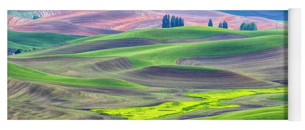 The Color Palette Of The Palouse Yoga Mat