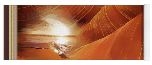 The Desert And The Tide Fantasy Yoga Mat