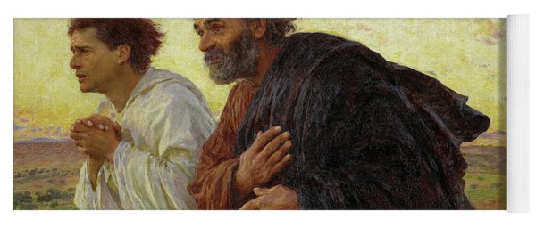 The Disciples Peter And John Running To The Tomb On The Morning Of The Resurrection, 1898 Yoga Mat