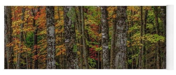The Fall Woods Yoga Mat