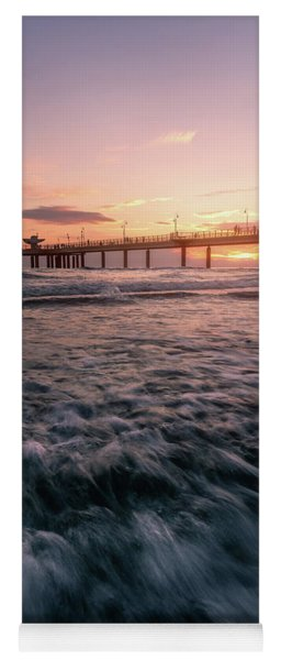 The Fiery Pier - A Pier At Sunset In Versilia, Tuscany, Italy Yoga Mat
