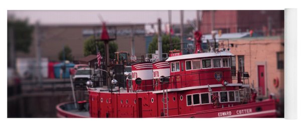 The Fireboat Edward M. Cotter. Yoga Mat