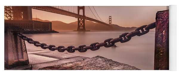 Yoga Mat featuring the photograph The Golden Gate by Francisco Gomez