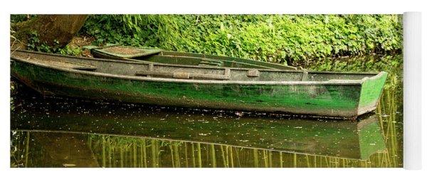 The Green Boat Yoga Mat
