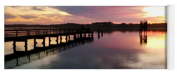 The Hollering Place Pier At Sunset Yoga Mat