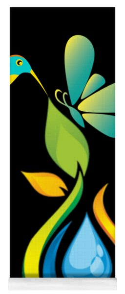 The Kissing Flower And The Butterfly On Flower Bud Yoga Mat