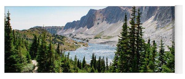 The Lakes Of Medicine Bow Peak Yoga Mat