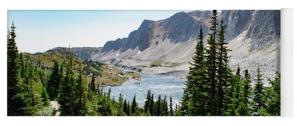 Yoga Mat featuring the photograph The Lakes Of Medicine Bow Peak by Nicole Lloyd
