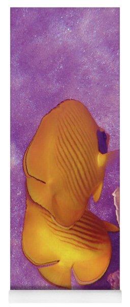 The Masked Butterflyfish Purple Yoga Mat
