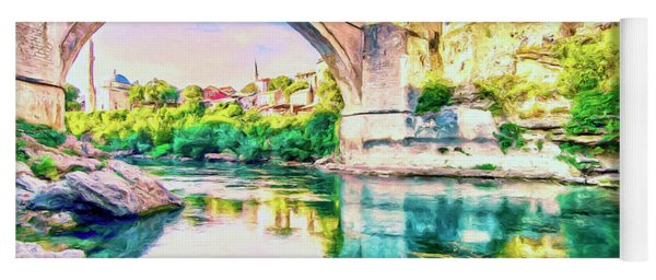 The Mostar Bridge Yoga Mat
