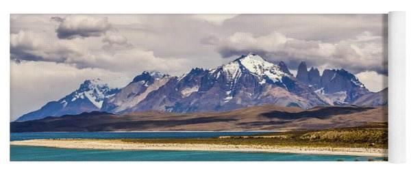 The Mountains Of Torres Del Paine National Park, Chile Yoga Mat
