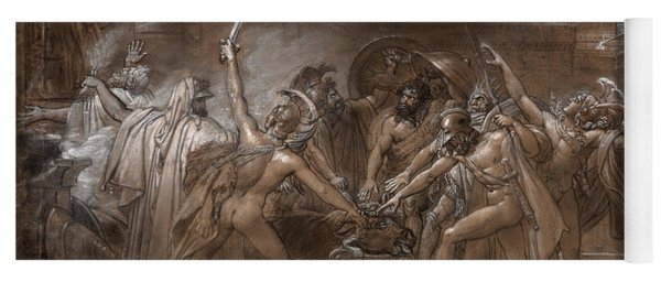 The Oath Of The Seven Chiefs Against Thebes, 1800 Yoga Mat