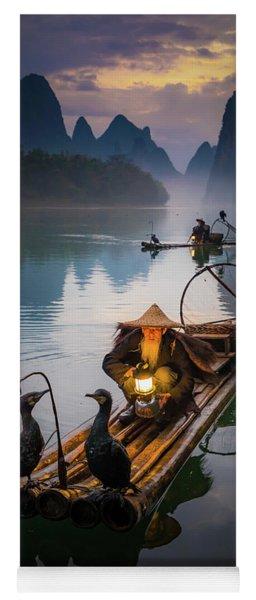 The Old Li River Fisherman Yoga Mat