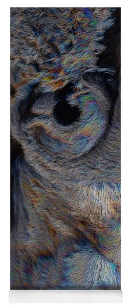Yoga Mat featuring the digital art The Old Owl That Watches by ISAW Company