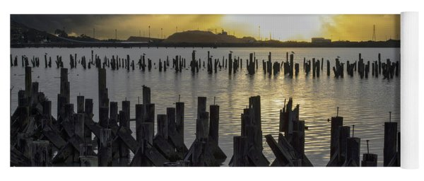 The Old Pier At Sunset Yoga Mat