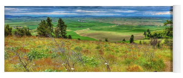 The Path Down Kamiak Butte Yoga Mat
