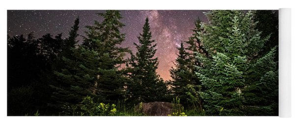 The Path To The Milky Way In Albany New Hampshire Yoga Mat