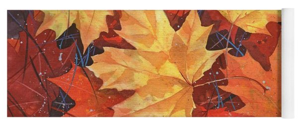 The Poem Of Autumn Leaves Yoga Mat