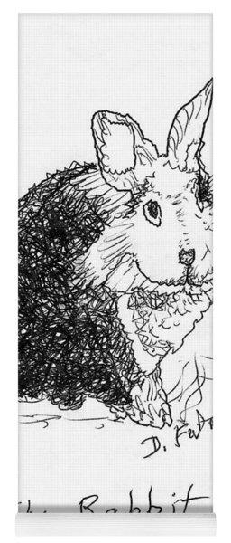 The Rabbit Lady Drawing Yoga Mat