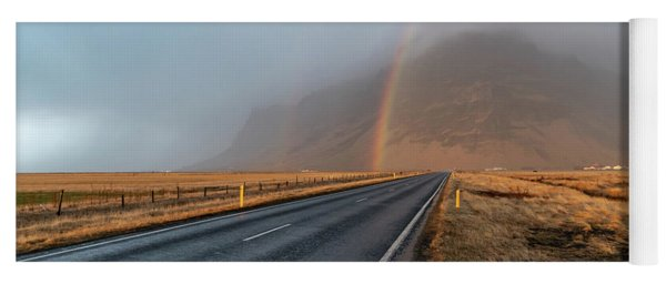 The Rainbow Road Yoga Mat