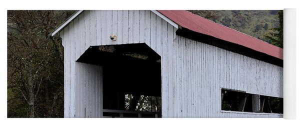 The Red Roof Covered Bridge Yoga Mat