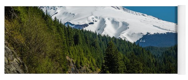 The Road To Mt. Hood Yoga Mat