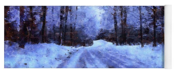 The Road To Winter Yoga Mat