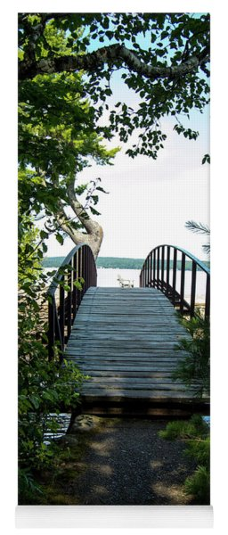 The Rock River Foot Bridge Yoga Mat