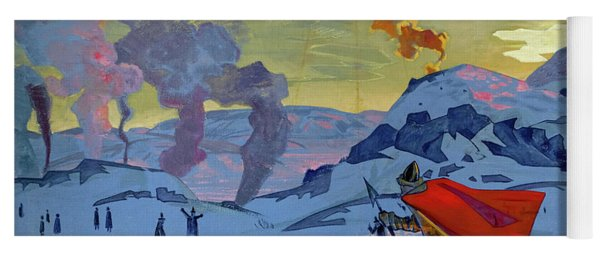 The Signal Fires Of Peace, 1917-1918 Yoga Mat