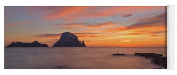 The Sunset On The Island Of Es Vedra, Ibiza Yoga Mat