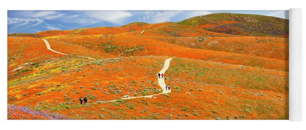 The Trail Through The Poppies Yoga Mat