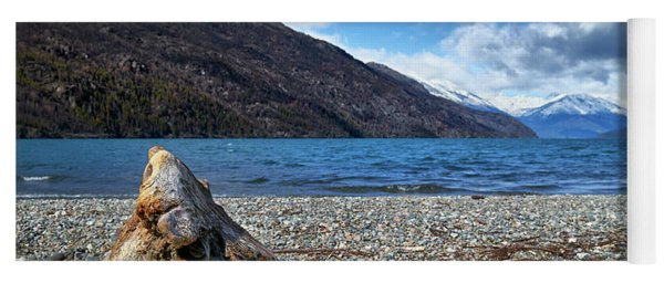 The Puelo Lake In The Argentine Patagonia Yoga Mat