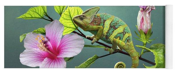 The Veiled Chameleon Of Florida Yoga Mat
