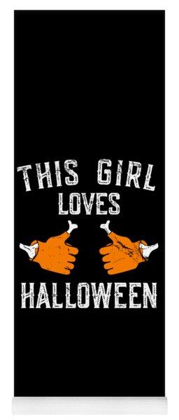 This Girl Loves Halloween Yoga Mat