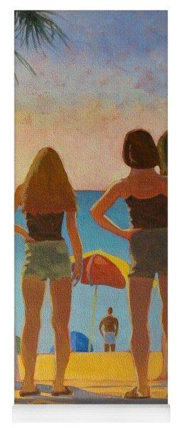 Three Beach Girls Yoga Mat