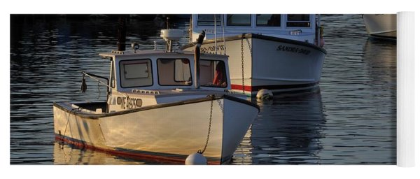 Three Boats In Maine Yoga Mat