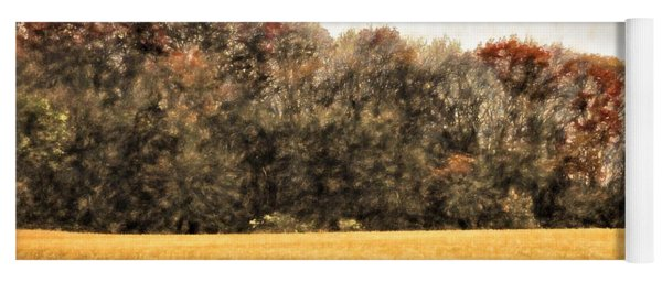 Three Crows And Golden Field Yoga Mat