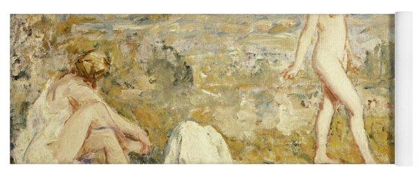 Three Girls Bathing, Thame, 1911 Yoga Mat