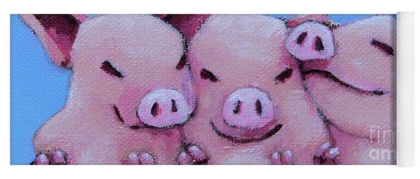 Three Little Pigs Yoga Mat