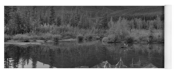 Three Sisters Driftwood Reflections Black And White Yoga Mat